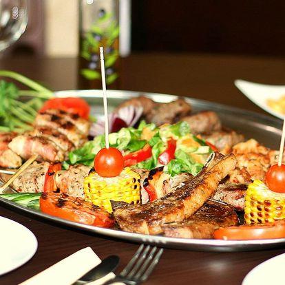Řecké speciality pro 2: degustační masové plato