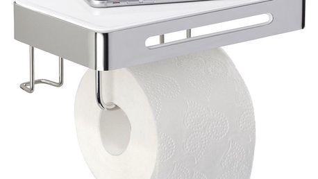 Držák na toaletní papír PREMIUM PLUS s poličkou - 2 v 1, WENKO