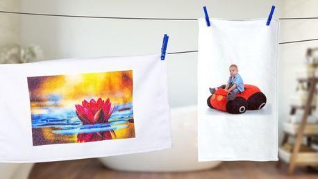 Ručník nebo osuška s vlastní fotografií