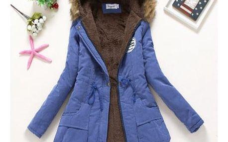 Dámská zimní bunda Jane - Safírová-velikost č. XL - dodání do 2 dnů