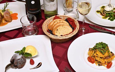 Menu plné italských specialit v Il Palazzo