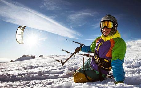 Poznej sílu větru na kurzu snowkiting