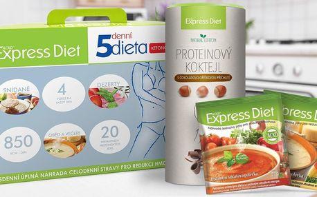 5denní ketonová dieta a proteinový koktejl