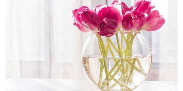 Altom Skleněná váza Lucia, 24 cm2