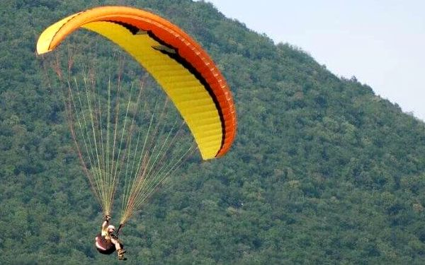 Tandemový paragliding v Beskydech2