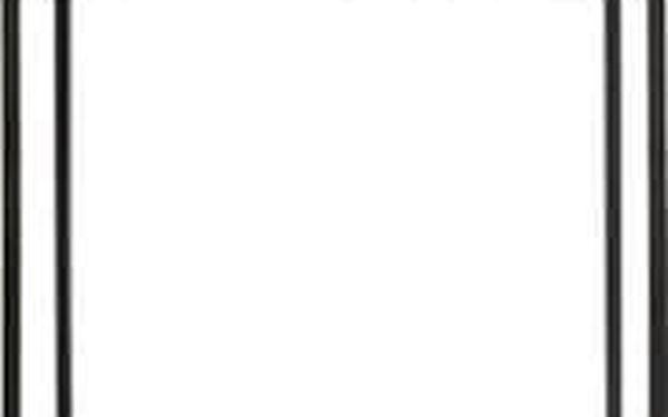 Emako Sada dvou kovových květináčů v černé barvě, 25x16x16, 40x18x18 cm2