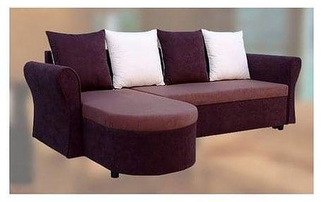 Rohová sedačka rozkládací KATEŘINA 2 Hnědá