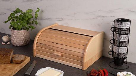 ZELLER Dřevěný chlebník, box na chleba, 40x28x18cm