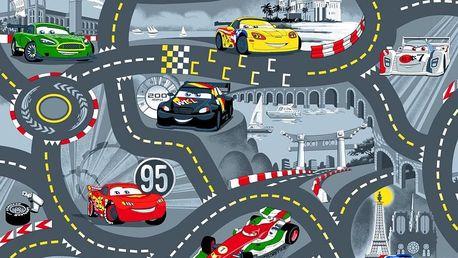 Dětský koberec The World od Cars 97 šedý 133 x 165 cm