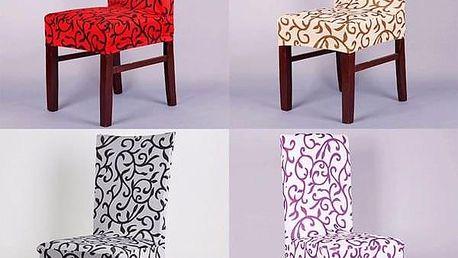 Potah na židli v elegantním designu - bílo - černá - dodání do 2 dnů