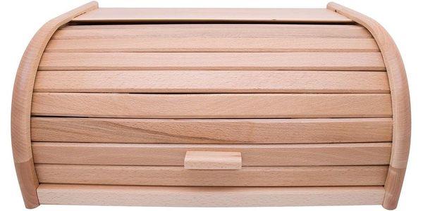 ZELLER Dřevěný chlebník, box na chleba, 40x28x18cm4
