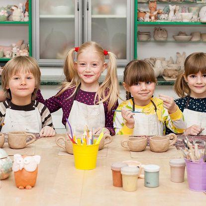 Keramika pro děti i rodiče: až 3 hodiny tvoření
