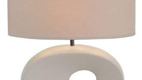 Tempo Kondela Keramická stolní lampa Qenny 9, bílá