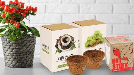 Sady pro pěstování papriček, kávy či masožravek