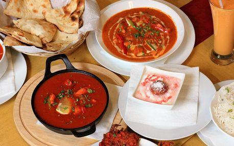 Indické menu dle výběru pro 2 nebo 4 osoby