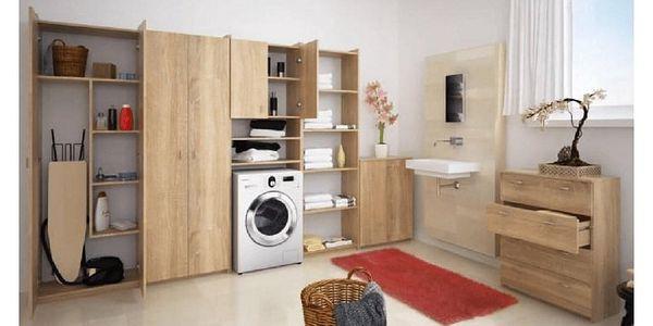Skříňka nad pračku, dub sonoma, NATALI3