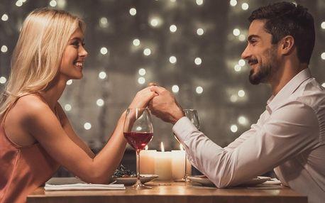 Valentýnské 3- nebo 4chodové menu i s láhví vína
