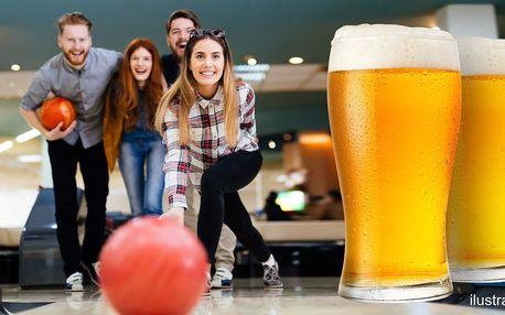 60 min. bowlingu na profi dráze a 4 velká piva