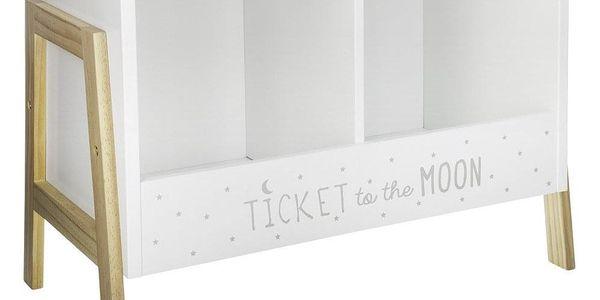Atmosphera Créateur d'intérieur Skříňka na knihy pro děti, dřevěný regál, bílý regál, bílý regál na knížky, police do dětského pokoje, bílá skříňka