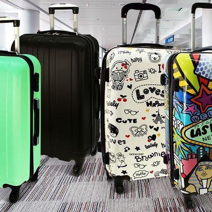 Skořepinové kufry na kolečkách, kódový zámek