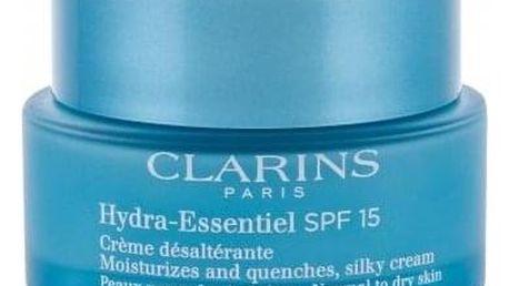 Clarins Hydra-Essentiel SPF15 50 ml hedvábný krém pro normální a suchou pleť pro ženy