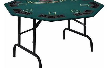 Garthen 5968 Skládací pokerový stůl pro 8 osob s držáky na nápoje 122 x 122 x 76 cm