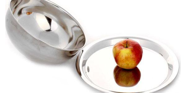 EH Excellent Houseware Kovový podnos na ovoce s poklopem, 20 x 24 x 12 cm2