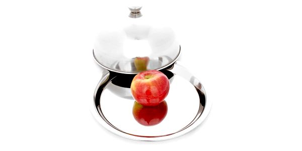EH Excellent Houseware Kovový podnos na ovoce s poklopem, 20 x 24 x 12 cm3
