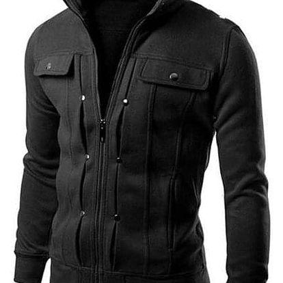 Pánská bunda na zip - Tmavě Šedá-velikost č. 5 - dodání do 2 dnů