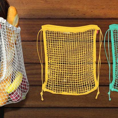 Síťovaný batoh z bavlny: 6 různých barev
