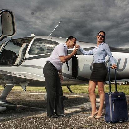 Vyhlídkový let luxusním letadlem