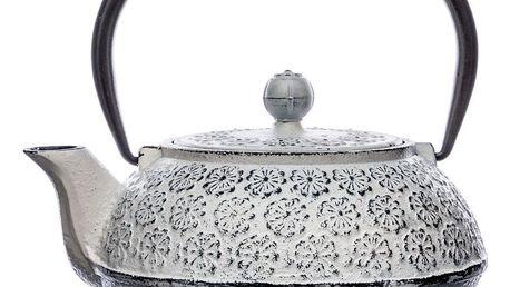 Secret de Gourmet Litinová čajová konvice, profesionální konvice, udržovaná po dlouhou dobu v teple - objem 1 litr
