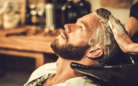 Pánský střih vč. masáže hlavy a stylingu