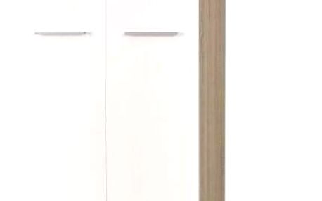 Šatní skříň Lima REG 2 bílá - dub sonoma