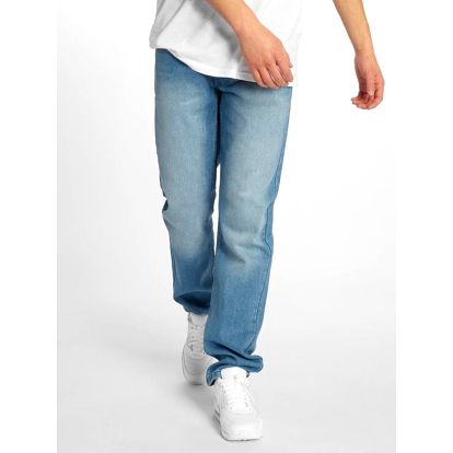Rocawear / Straight Fit Jeans Moletro Leather Patch in blue W 36