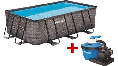 Marimex | Bazén Florida Premium 2,15x4,00x1,22 m s pískovou filtrací - motiv RATAN | 19900083
