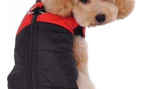 Voděodolná vesta pro psy ve více velikostech - Červená-L - dodání do 2 dnů