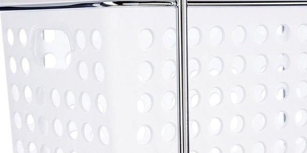 INSTANT D'O Stojan, koupelnová polička, regál do sprchového koutu, koupelnová police - 3 úrovně, bílo-transparentní barva2