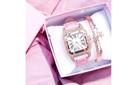 Dámské hodinky a náramek Ellia - dodání do 2 dnů