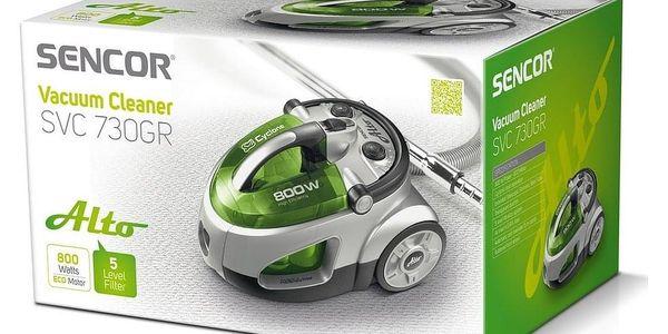 Sencor SVC 730GR-EUE2 bezsáčkový vysavač2