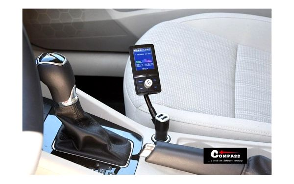 Compass Hands free FM transmitter LCD COLOR3