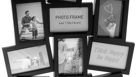 Emako černý rámeček pro 12 fotografií, moderní design