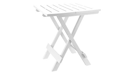 ProGarden Skládací campingový stoleček ADIGE - bílá barva