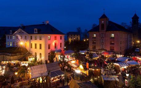 Adventní Drážďany a historické vánoční trhy na pevnosti Königstei, Sasko
