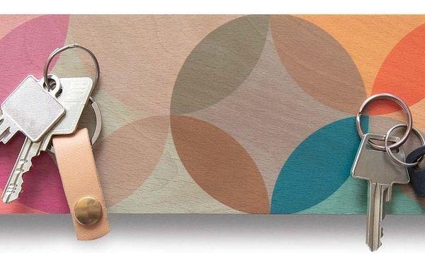 Remember Magnetický věšák na klíče, dřevěná tabulka s nevšedním designem