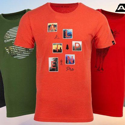 Pánská trička Alpine Pro s originálním potiskem