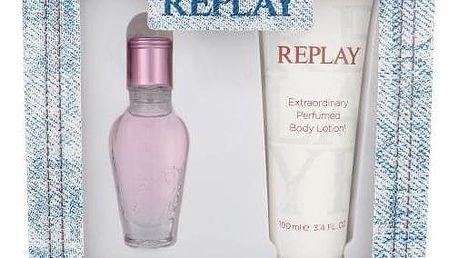 Replay Jeans Spirit! For Her dárková kazeta pro ženy toaletní voda 20 ml + tělové mléko 100 ml