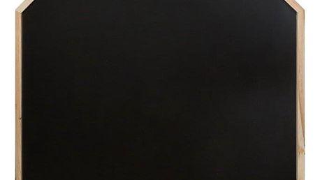 Emako Kreslící tabule ve tvaru domu s dřevěným rámem, černá barva, 116.2x75.3x3 cm