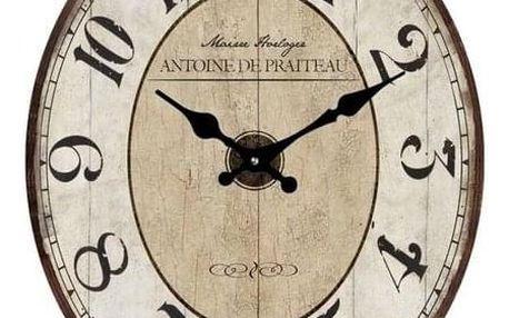 Lowell 14860 Designové nástěnné hodiny 32 x 39 cm