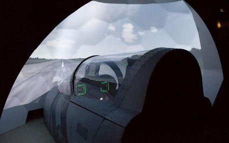 Letecký simulátor stíhačky F/A-18 Hornet v Brně